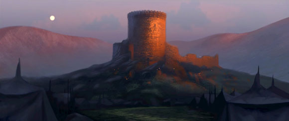 Production art from Pixar's Brave