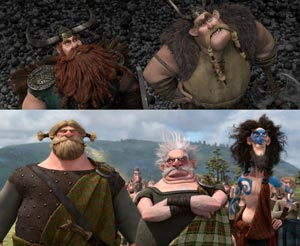 Vikings of How to Train Your Dragon and Lords of Brave