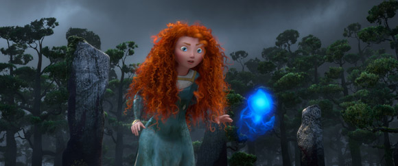 Princess Merida and Wisp from Pixar's Brave