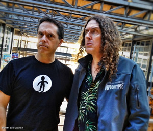 Weird Al and Lee Unrich at Pixar. Courtesty of Lee Unrich