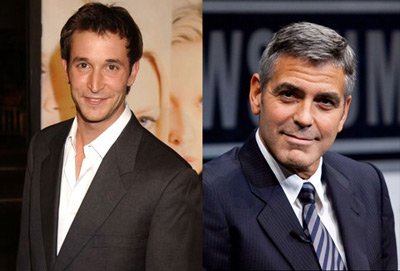 Noah Wyle and George Clooney