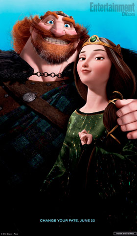 King Fergus and Queen Elinor Brave Character Poster