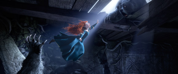 Pixar Brave Merida Jumping with Bears