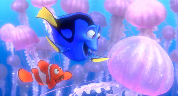 Finding Nemo, Marlin and Dorry with Jellyfish