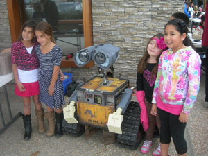 WALL-E Robot with Kids