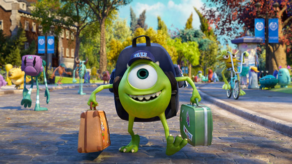 Pixar Monsters University Mike Wazowski Carrying Luggage