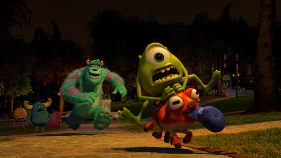 Pixar Monsters University Mike Wazowski Riding a Monster