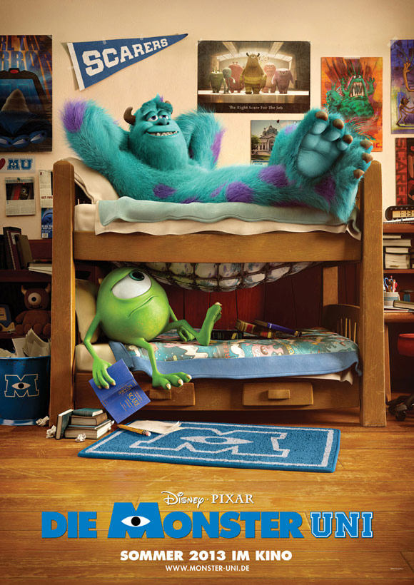 International (German) Monsters University Poster