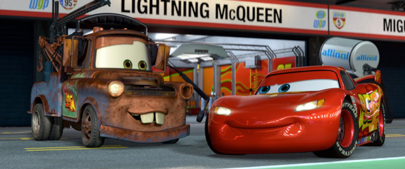 Lightning McQueen and Tow Mater at the Races