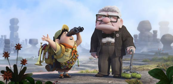 Carl and Russell of Pixar's UP