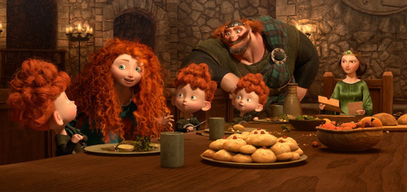 Pixar Brave Royal Family at Dinner