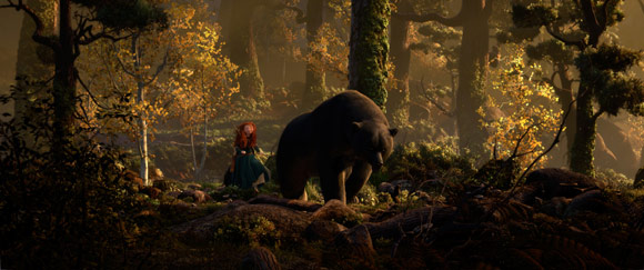 Merida and Mother Bear in the Forest