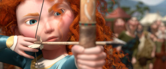 Merida Shooting an Arrow