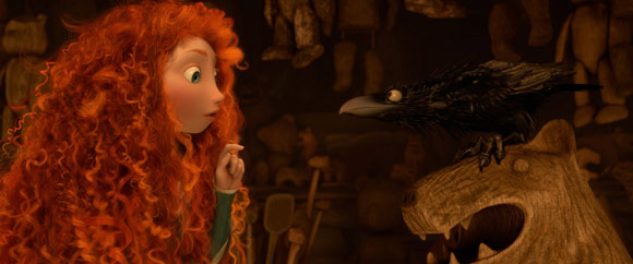 Merida and a Crow