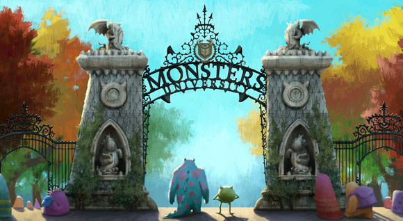 Monsters University Campus Entry Gate