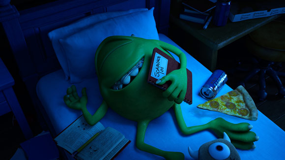 Monsters University Mike Wazowski Sleeping