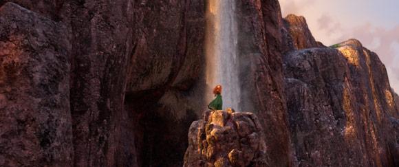 Merida at the Waterfall