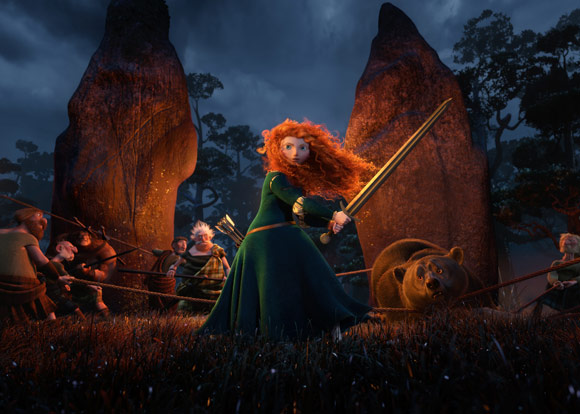 Merida Wields a Sword in Defense of Bear Pixar Brave