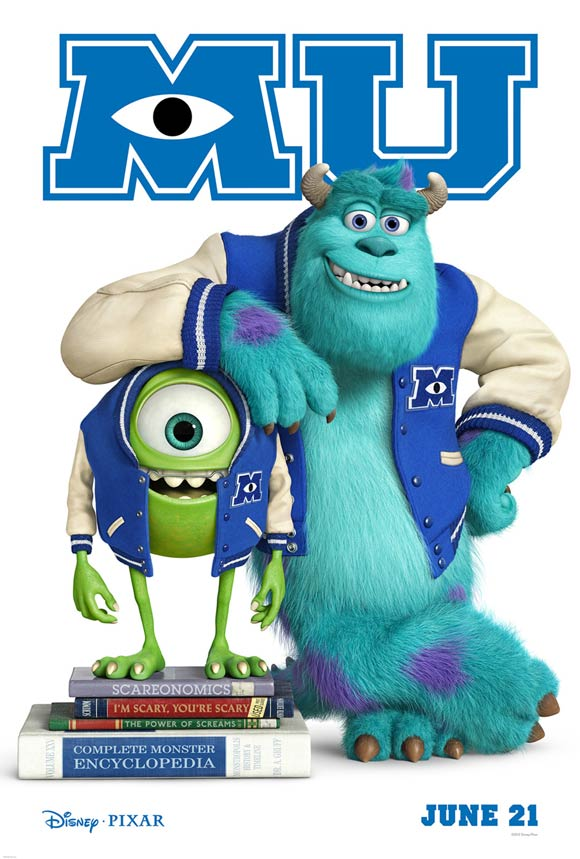 Pixar Monsters University Teaser Poster
