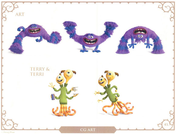 Monsters University Character Art, Terry and Terri
