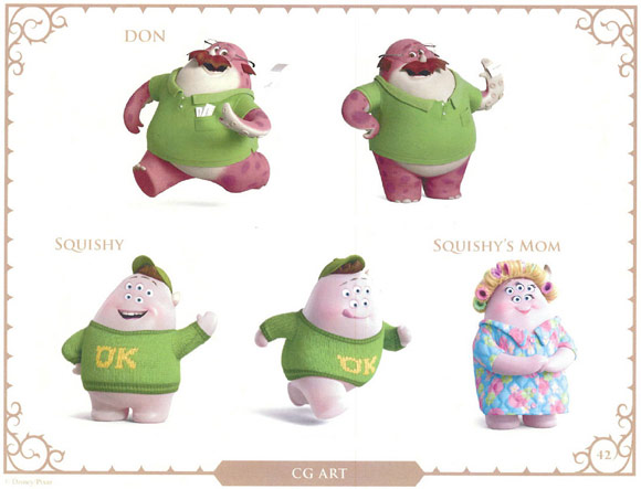 Monsters University Character Don and Squishy