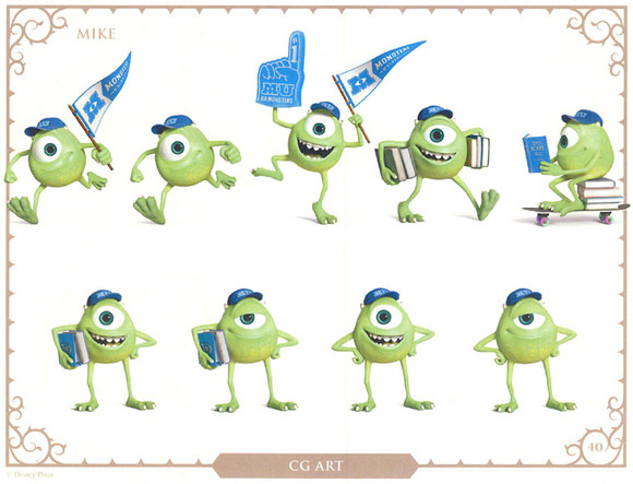 Monsters University Character Mike