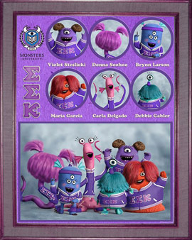 Pixar Monsters University Sorority EEK