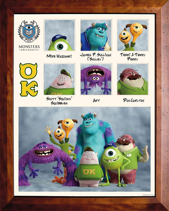 Pixar Monsters University Fraternity OK