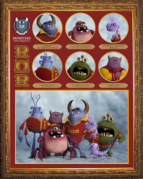 Pixar Monsters University Fraternity ROR