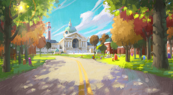 Pixar Monsters University campus