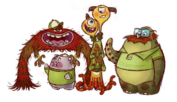 Pixar Monsters University misfits
