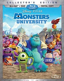 Monsters University Blu Ray Cover