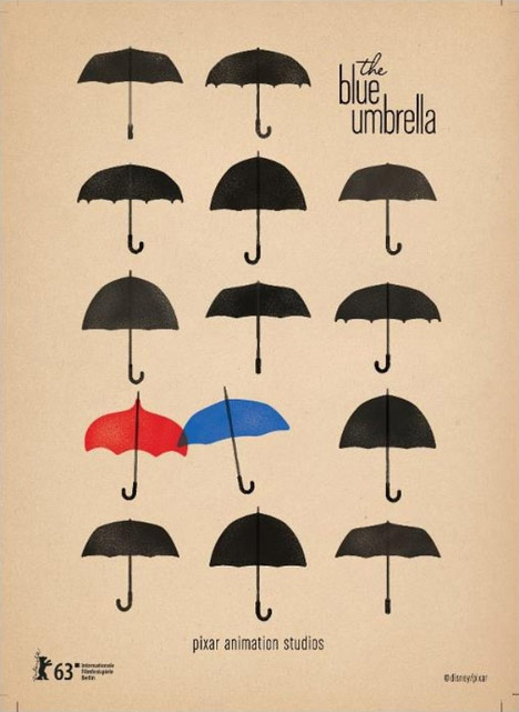 Pixar Blue Umbrella Poster