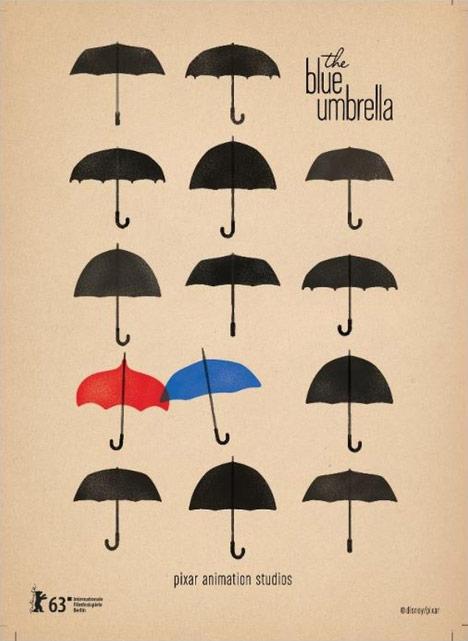 Pixar Blue Umbrella Poster