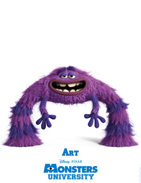 Monsters University Character Detail Art