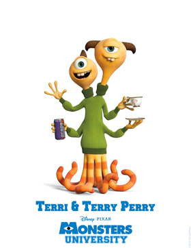 Monsters University Character Detail Terry and Terri Perry