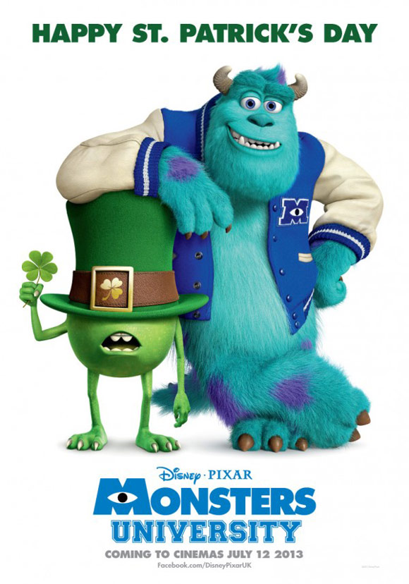 Pixar's Monsters University Happy St. Patrick's Day