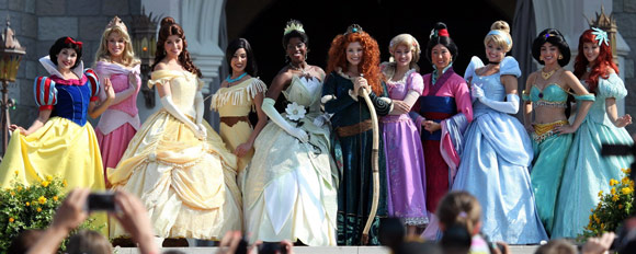 Crowned princesses of Disney