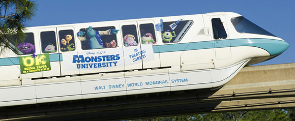 Pixar Monsters University Monorail Wrap