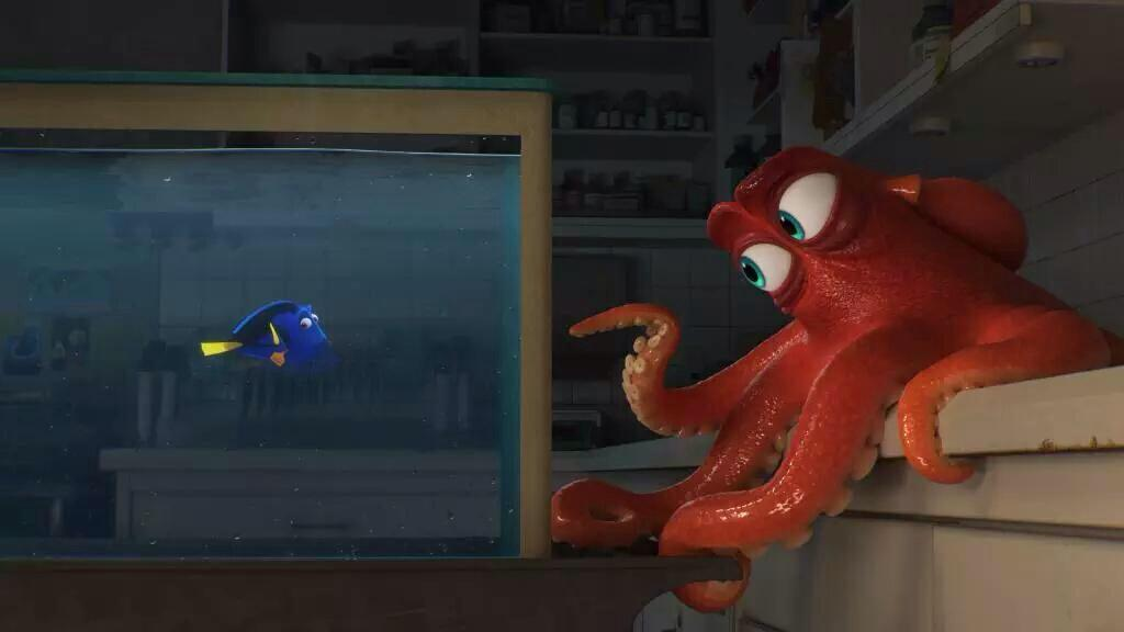 Dory and Hank from Finding Dory