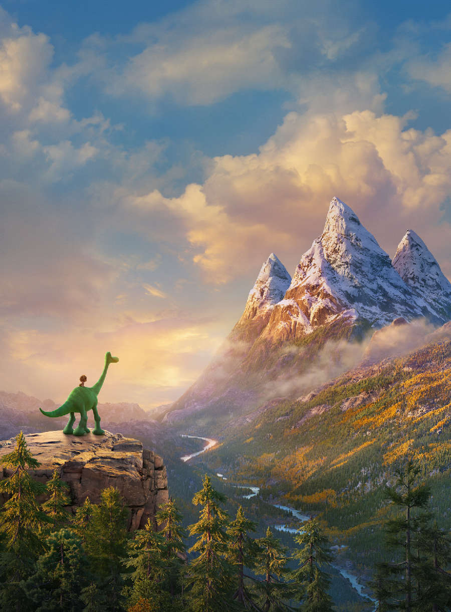 Mountain scenery from The Good Dinosaur