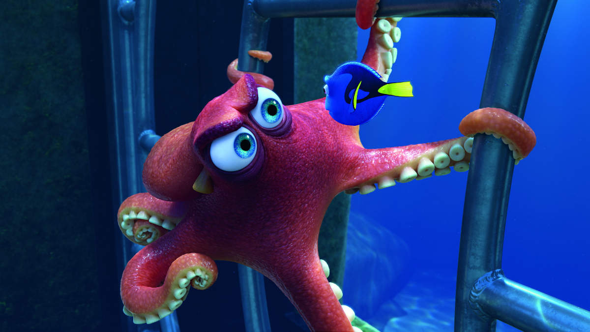Hank and Dory from Pixar's Finding Dory